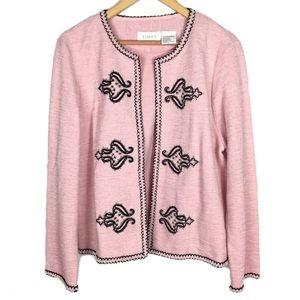 Vintage bubble gum Barbie pink western sweater